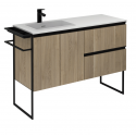 Essence 120cm Unit Oak with Notte Basin and 100mm Shelf