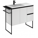Essence 90cm Unit Matt White with Moon Basin and 100mm Shelf