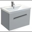 Vanore Pearl Grey Slimline 50cm Wall Hung Vanity Unit