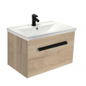 Vanore Halifax Oak Slimline 50cm Wall Hung Vanity Unit