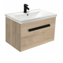 Vanore Halifax Oak Slimline 60cm Wall Hung Vanity Unit ** Black Friday Reduction**