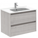 Sparta Sandy Grey 80cm Vanity Unit 2 Drawer & Slim Basin