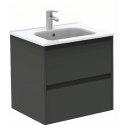 Sparta Anthracitte 60cm Vanity Unit 2 Drawer & Slim Basin