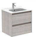 Sparta Sandy Grey 60cm Vanity Unit 2 Drawer & Slim Basin