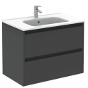 Sparta Anthracitte 80cm Vanity Unit 2 Drawer & Slim Basin