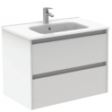 Sparta Gloss White 80cm Vanity Unit 2 Drawer & Slim Basin