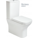 Sara Fully Shrouded RIMLESS Toilet and Soft Close Seat