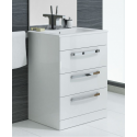 Naturo 60cm 3 Door White Vanity Unit