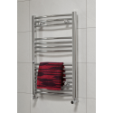 Curved 800x500 Heated Towel Rail Chrome
