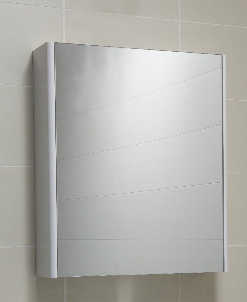 Mirrors cabinets elora 60 mirror cabinet white for Bathroom cabinets 60cm