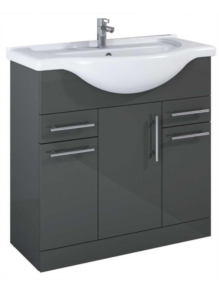 Combination Vanity Units For Small Bathrooms: Floor Standing Vanity Units Blanco 85cm Vanity Unit & Basin