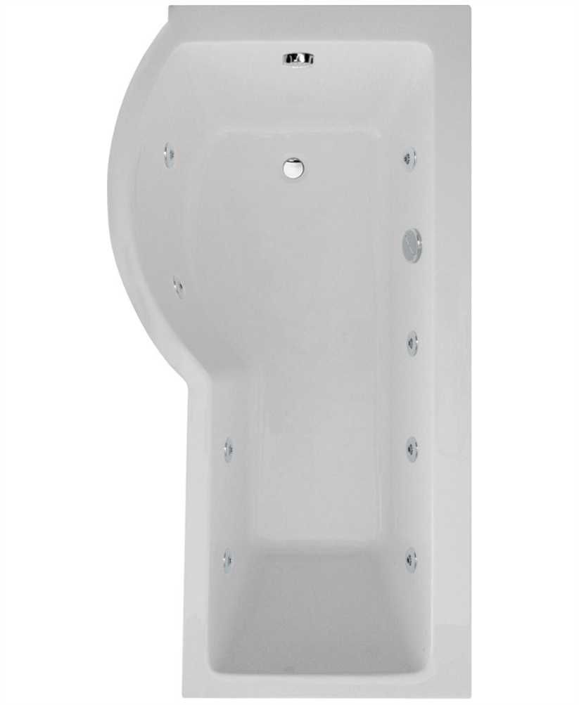 Whirlpool Baths P Shaped 1700 X 900 Shower Bath Left Hand