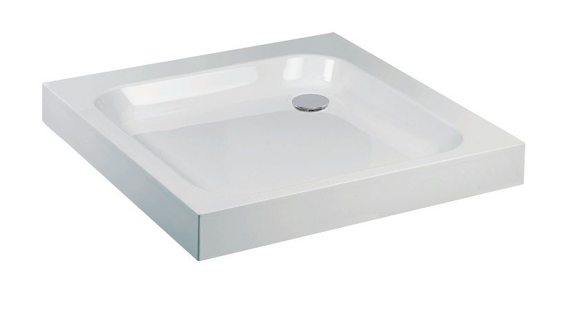 Jt ultracast 760mm square shower tray - Shallow shower tray ...