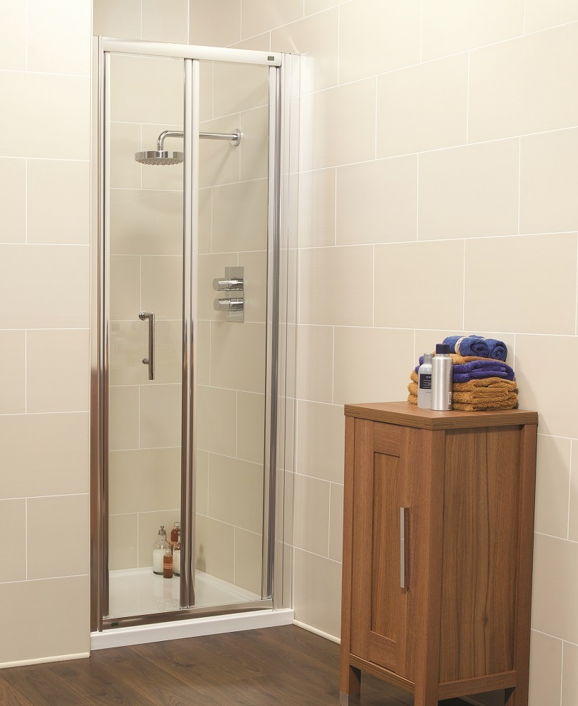 Kyra range 1000mm bifold shower enclosure for 1000mm shower door