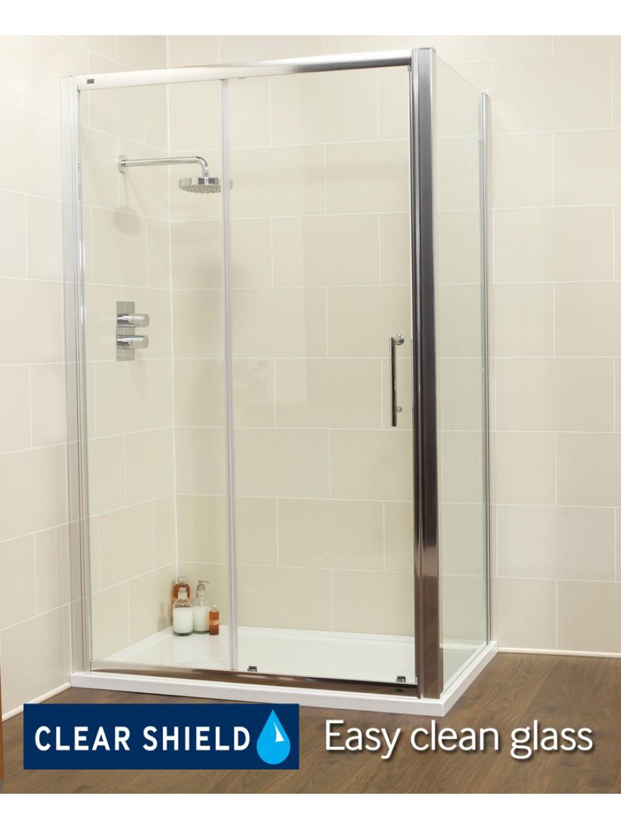 Kyra range 1500 x 700 sliding shower door for 1500 shower door