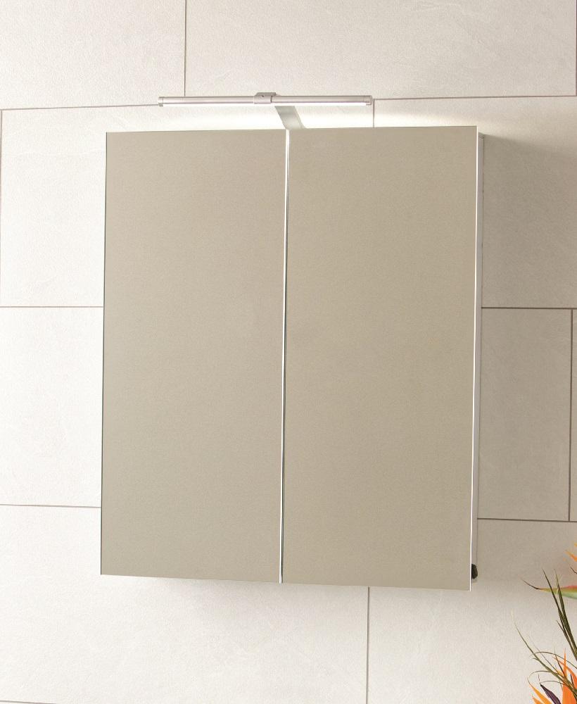 Nile 2 Door Aluminium Bathroom Cabinet 600 X 700