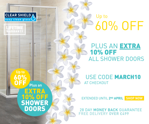 An Extra 10% off Shower Doors
