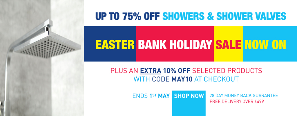 extra 10% off taps and showers