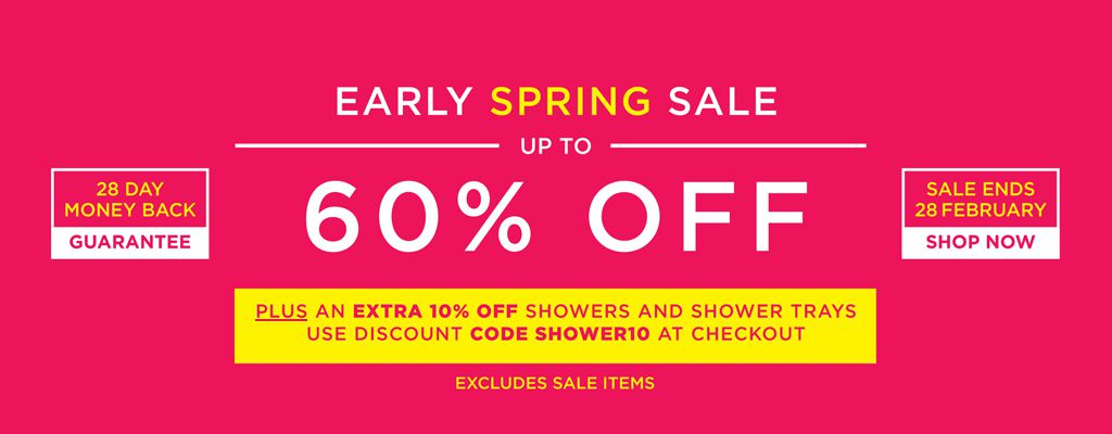 An Extra 10% off Showers and Shower Trays